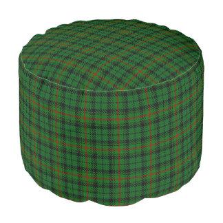 Pouf Tartán escocés del negro del verde del estilo de