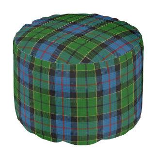 Pouf Tartán escocés del verde azul del estilo de