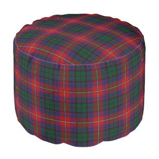 Pouf Tartán rojo del verde azul del estilo escocés de