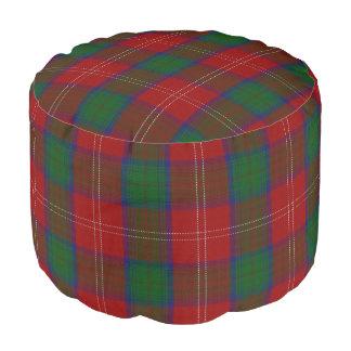 Pouf Tartán verde rojo del estilo escocés de Chisholm