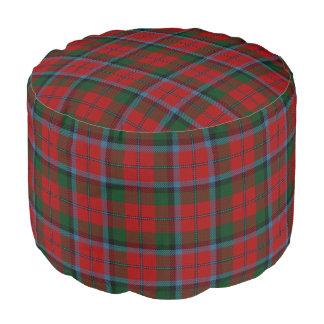 Pouf Tartán verde rojo del estilo escocés de MacNachtan
