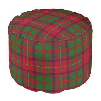 Pouf Tartán verde rojo del estilo escocés de Shaw del