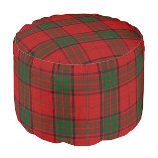 Pouf Tartán verde rojo del estilo escocés del maxwell