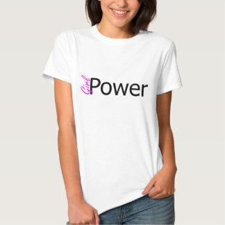 Power~t-camisa del chica camiseta
