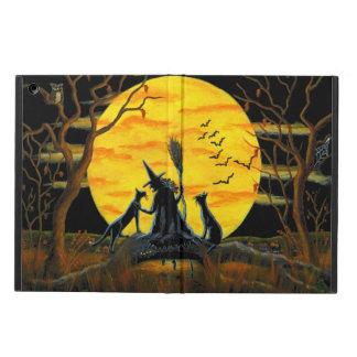 Powiscase de Halloween, ipad, bruja, luna, gatos Funda Para iPad Air