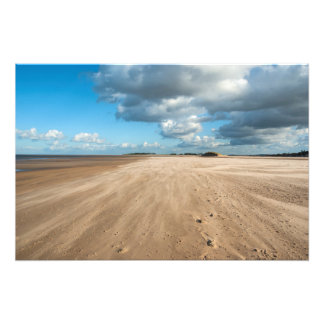 Pozos después la playa del mar foto