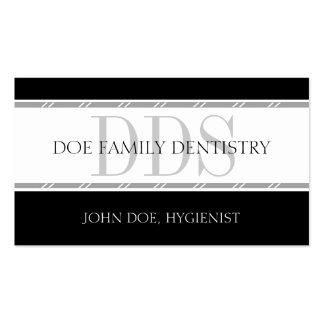 Práctica dental de la oficina de la odontología de tarjeta de visita
