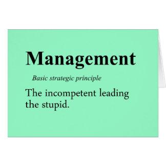 Prácticas estratégicas de la gestión ejecutiva tarjeta pequeña