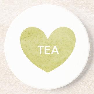 Práctico de costa amarillo del té posavaso para bebida