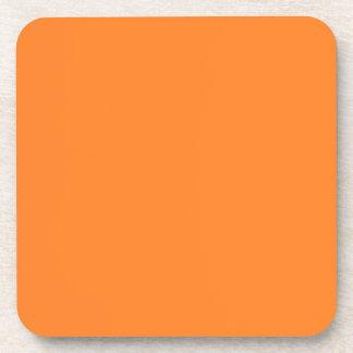 Práctico de costa anaranjado del corcho posavasos