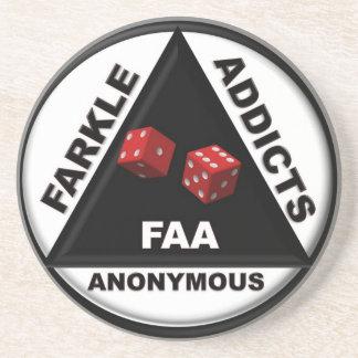 Práctico de costa anónimo de los adictos a Farkle Posavasos Diseño