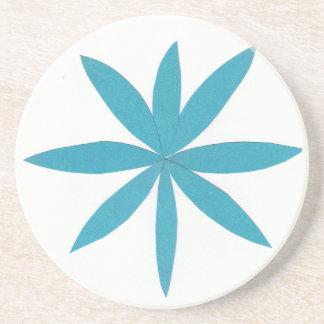 Práctico de costa con diseño de la estrella de la apoyavasos