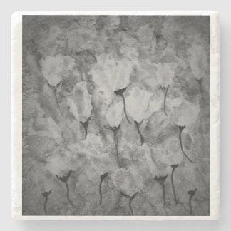 Práctico de costa de mármol. Tonos grises Posavasos De Piedra