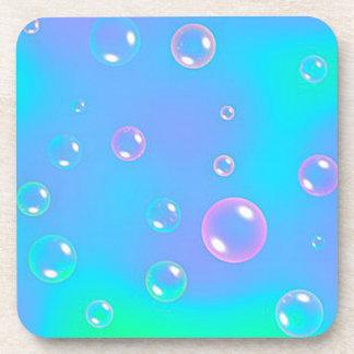 Práctico de costa del corcho de las burbujas posavasos de bebidas
