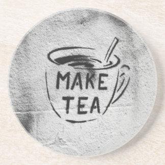 práctico de costa del lema del té del arte de la p posavasos diseño