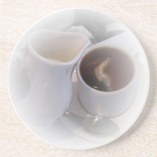 Práctico de costa del té de Londres Posavasos Cerveza