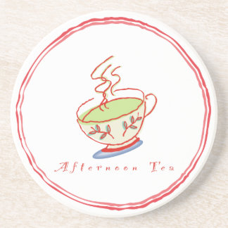 Práctico de costa del té de tarde posavasos para bebidas
