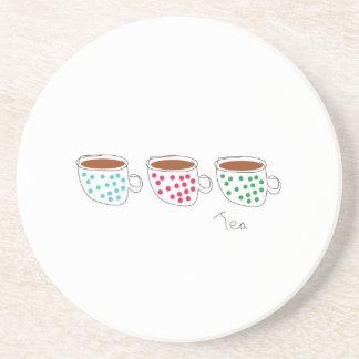 Práctico de costa del té posavasos diseño