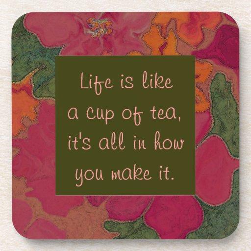 práctico de costa del té posavasos de bebida