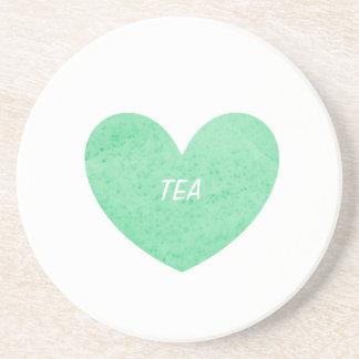 Práctico de costa del té verde posavaso para bebida