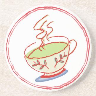 Práctico de costa del té verde posavasos diseño