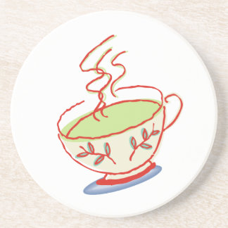 Práctico de costa del té verde posavasos para bebidas