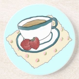 Práctico de costa del té y de las fresas posavasos de arenisca