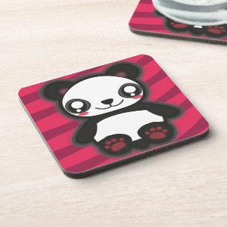 Práctico de costa divertido de la panda de Kawaii Posavasos
