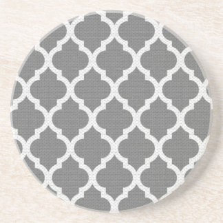 Práctico de costa gris y blanco del modelo posavasos de arenisca