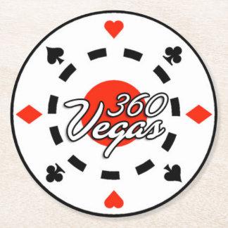 Práctico de costa redondo del logotipo del posavasos de papel redondo