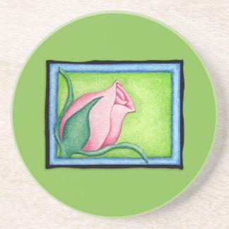 Práctico de costa verde color de rosa posavaso para bebida