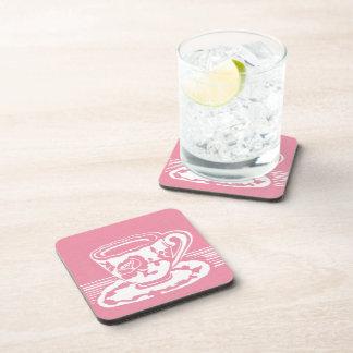 Prácticos de costa color de rosa de la taza de té posavaso