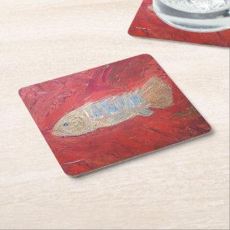 Prácticos de costa cuadrados de encargo, 'fish posavasos de papel cuadrado