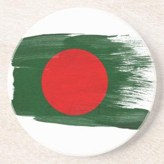 Prácticos de costa de la bandera de Bangladesh Posavasos Cerveza