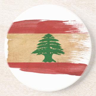 Prácticos de costa de la bandera de Líbano Posavasos Cerveza
