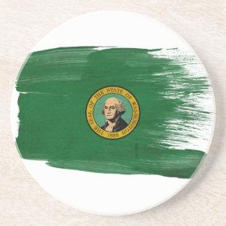 Prácticos de costa de la bandera de Washington Posavasos Para Bebidas
