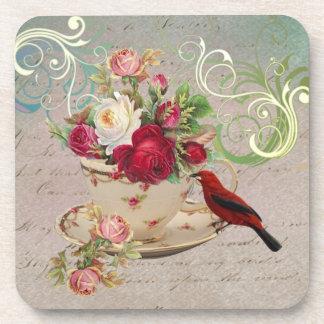 Prácticos de costa de la taza de té 1 posavasos de bebidas