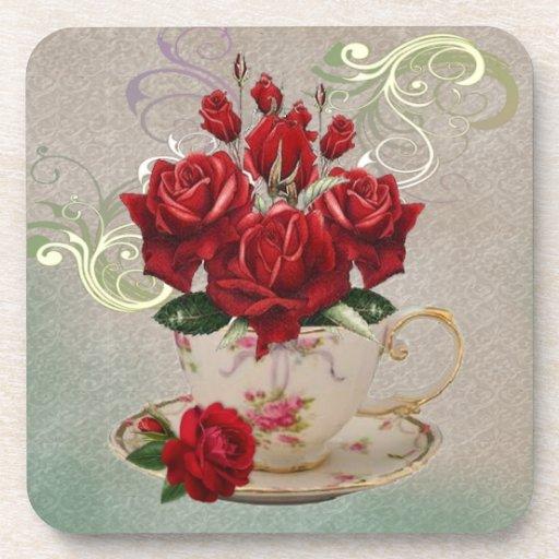 Prácticos de costa de la taza de té 3 posavasos de bebida