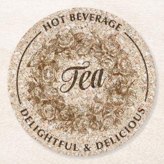 Prácticos de costa de papel del té posavasos desechable redondo