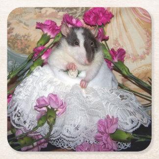 Prácticos de costa de Trudy de la novia de la rata Posavasos De Papel Cuadrado