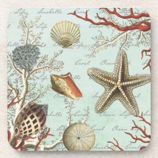 Prácticos de costa del corcho de los Seashells del Posavasos