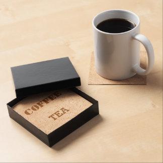 Prácticos de costa del corcho del té y del café posavasos