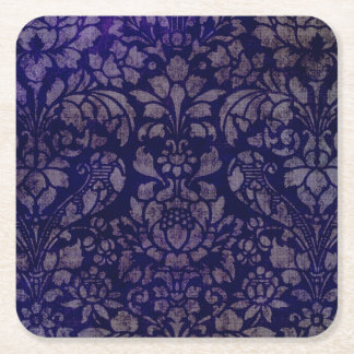 Prácticos de costa del cuadrado de los azules posavasos cuadrado de papel