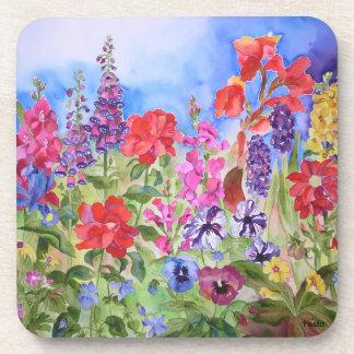 Prácticos de costa del jardín de flores posavasos