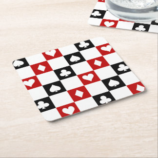Prácticos de costa del modelo del juego del fiesta posavasos de papel cuadrado