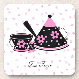 Prácticos de costa del tiempo del té posavaso