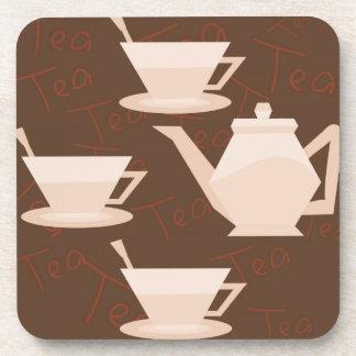 """""""Prácticos de costa del tiempo del té"""" Posavasos De Bebidas"""