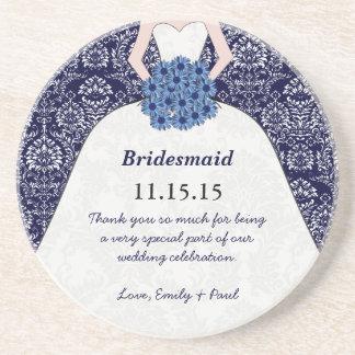 Prácticos de costa del vestido de boda de la dama portavasos
