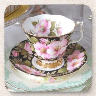 Prácticos de costa elegantes de la taza de té del  posavasos