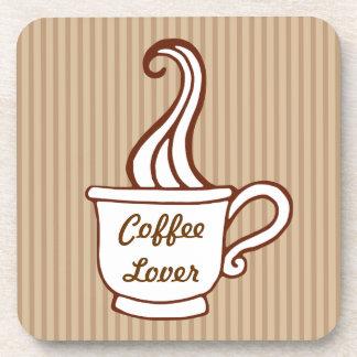 Prácticos de costa retros del amante del café posavasos de bebidas